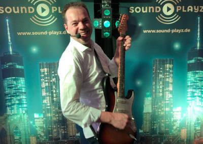 Gute Stimmung mit Jürgen von Sound Playz Hochzeitsband